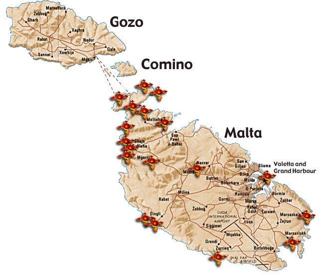 Cartina Turistica Di Malta.Malta E Gozo Viaggiare In Moto