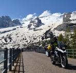 Passa Fedaia con ghiacciaio della Marmolada